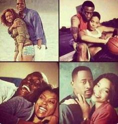 I get it but this collage is backwards! Beyonce and Jay Z are the only real couple every other couple shown was paid to be on screen which is fine, but what about the Huxtables? and Tyrese in baby boy was a horrible example of a black man; he cheated on the girl got the other chick pregnant. made his main get multiple abortions. but yet he realized she was the right one after he almost got killed...I'm sorry but the only power couple that I see is Martin and Gina