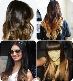 20 inches Two-Tone Human Hair Extensions uwo720 for Hot Ombre Hairstyles 2014