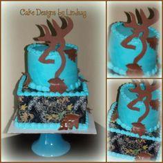 A mossy oak cake Country Birthday Cakes, Camo Birthday Cakes, Camo Cakes, Birthday Cake Girls, 16th Birthday, Geek Birthday, Birthday Ideas, Baby Shower Camo, Sweet 16 Cakes