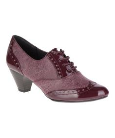 9485db2b87b6d Women's Soft Style Gianna Heeled Wing-Tip Oxford Bordeaux (Red) Faux  Tweed/Patent (US Women's 8 M (Regular))