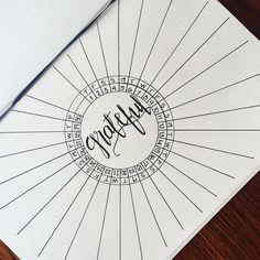 Gratitude log bullet journal page