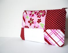 Red PouchCosmetic bagCosmetic Pouch by SzidoniaCollection on Etsy, $13.99