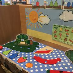 Story shelf - the very hungry caterpillar Year 1 Classroom, Early Years Classroom, Reading Den, Mini Beasts, Creative Area, Block Play, Writing Table, Very Hungry Caterpillar, Eyfs