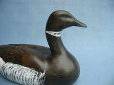 Handcarved Black Brant Goose Decoy Robert by RobertKellyCarvings Semi Transparent Stain, Decoy Carving, Duck Decoys, Ceramic Birds, Canadian Artists, Throughout The World, Hand Carved, Ducks, Woodcarving