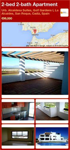2-bed 2-bath Apartment in Urb. Alcaidesa Suites, Golf Gardens I, La Alcaides, San Roque, Cadiz ►€99,000