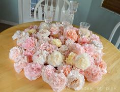 Coffee filter flowers ~ a super cheap, pretty and fun DIY decor idea!