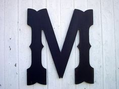 Handmade 24 inch wooden letter, western cowboy style wedding guestbook. This one is painted in Black on Brown and distressed with a matte finish.