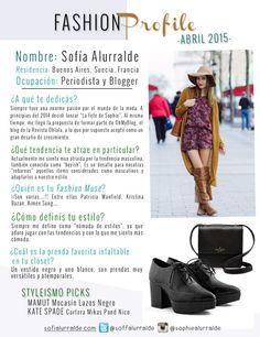#FashionProfile de Abril: Conocé más sobre Sofía Alurralde, periodista y blogger argentina.