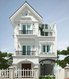 Bungalow House Design, House Front Design, Modern House Design, Classical Architecture, Architecture Design, Casa Retro, 2 Storey House, Modern Mansion, Street House