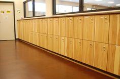 Locker room - The Range at Lake Norman  Cabinets: LBC Design Cabinetry - Cornelius, NC www.lbcdesigncabinetry.com