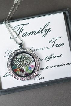 Mothers day necklace , mothers day jewelry ,Floating glass locket,Grandmother Necklace, Birthstone Necklace,Family Tree Mom  Grandma gifts