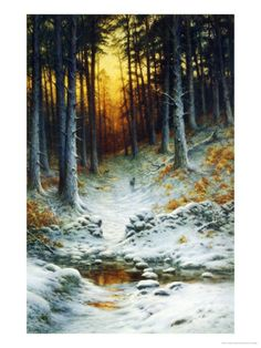 Glowing Sunset by Joseph Farquharson. Giclee print from Art.com.