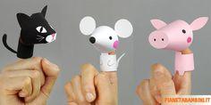 Marionette di Carta da Dita da Costruire per Bambini