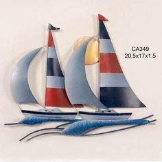 Metal Sailboat Wall Art metal sailboat wall decor |  metal art sailboats wall sculpture