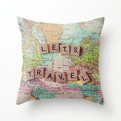 Let's Travel Pillowcase.