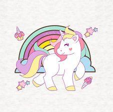 Unicorn And Rainbow / Cushion / Upholstery Craft Panel, printed fabric panel