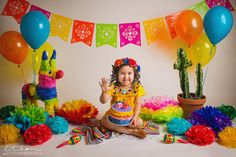 five years old. first birthday. Fiesta Cake, Mexican Fiesta Party, Fiesta Theme Party, Mexican Pinata, Smash Cake Girl, 1st Birthday Cake Smash, Girl First Birthday, 50th Birthday, Mexican Birthday Parties