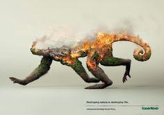 「自然破壊は命を破壊することにほかならない」環境保護団体の秀逸なプリント広告   AdGang