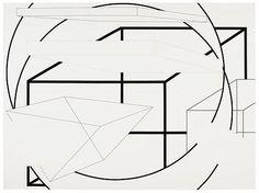 joereorda:  Al Held North-northwest, 1973 Acrylic on canvas 72 x 96 inches (182.9 x 243.8cm)