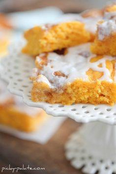 Cinnamon Pumpkin Vanilla Sheet Cake.