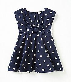 kate spade new york Little Girls 2T6X Fiorella Polka Dot Print Dress #Dillards