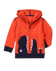 Gymboree Lava T-Rex Dinosaur Hoodie - Boys Little Boy Outfits, Toddler Girl Outfits, Toddler Fashion, Boy Fashion, Kids Outfits, Baby Outfits, Fashion Clothes, Fall Fashion, Fashion Dresses