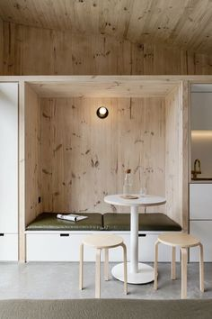 """Yardstix delivers modern, compact """"backyard architecture"""" made from cross-laminated timber Small Space Living, Small Spaces, Living Spaces, Living Room, Fold Up Beds, Building A Porch, Tiny House Movement, House With Porch, Showcase Design"""