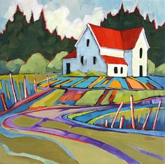 """""""Country Road"""" painting by Carolee Clark"""