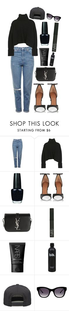 """YSL STYLE"" by mode-222 ❤ liked on Polyvore featuring Topshop, OPI, Givenchy, Yves Saint Laurent, NARS Cosmetics, Alex and Chloe and Thierry Lasry"