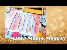 Mixed Media Monday ~ Watercolour Pencils + Stamps ~ ALWAYS FRIENDS - YouTube