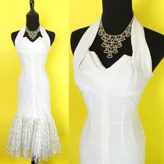 Hey, I found this really awesome Etsy listing at https://www.etsy.com/listing/226110924/vintage-1950s-white-and-silver-chromspun
