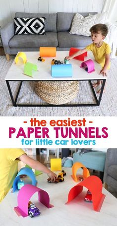 Easy Paper Tunnels for Little Car Lovers – Mama. Easy Paper Tunnels for Little Car Lovers – Mama.,Spiele Easy Paper Tunnels for Little Car Lovers Toddler Learning Activities, Games For Toddlers, Infant Activities, Preschool Activities, Kids Learning, Summer Activities, Activities For 3 Year Olds, Quiet Time Activities, Indoor Activities For Toddlers