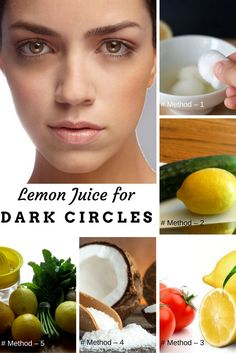 How to use Lemon Juice for Dark Circles
