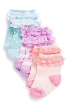 Baby Aspen 'Baby Cakes' Socks (3-Pack) (Baby Girls) available at #Nordstrom *Packaged like cupcakes