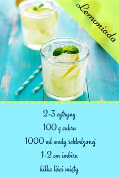 Nie ma nic lepszego niż zimna lemoniada w upalny dzień. #lemon #lemonade #cytryny #imbir #upał Cantaloupe, Pudding, Fruit, Drinks, Food, Diet, Drinking, Beverages, Custard Pudding