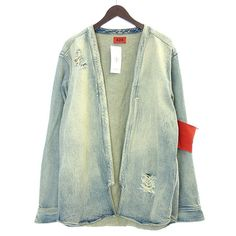 424 Armband with denim kimono kimono jacket L Light Indigo   eBay