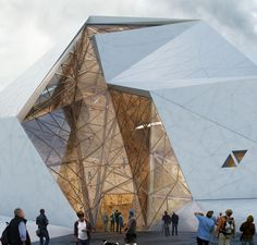 New Wave Architecture Designs Rock Gym for Polur #architecture New Wave, Architecture Moderne, Facade Architecture, Beautiful Architecture, Futuristic Architecture, Contemporary Architecture, Business Architecture, Light In Architecture, Triangular Architecture