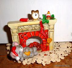 Vintage Ceramic Christmas Decoration Mouse by VintageTinsel