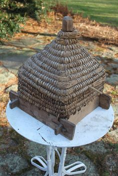 Antique French Bee Skep  http://52flea.blogspot.com/2011/01/antique-french-bee-skep-for-sale.html