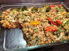 Cheesy Quinoa vegetable casserole