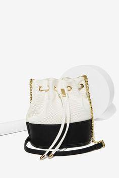 Black & White Bucket Bag