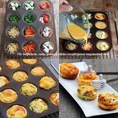 Tip na rýchlu večeru - obľúbené suroviny zaliate vajíčkom.