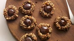 Chocolate Thumbprint Cookies -  Thumbprint cookies are traditionally flavored with vanilla and filled with fruit jam, but these are chocolate cookies stuffed with more chocolate! http://goodtaste.tv/recipes/showrecipe/display/chocolate-thumb-print-cookies