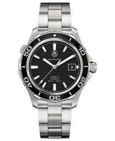 Tag Heuer Men's Swiss Automatic Aquaracer 500m Calibre 5 Stainless Steel Bracelet Watch 41mm WAK2110.BA0830