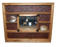 Rustic Western Buckle Display With 8x10 Picture Frame on Etsy, $59.95