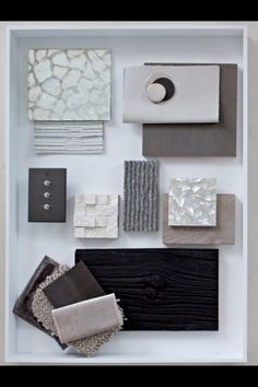 layout ideas for sample material boards - Google Search