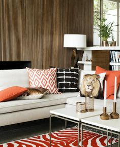 Love the use of color in the accents, and really like the coffee tables.  H&M Home Spring 2014