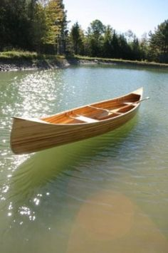 Cedar Strip Canoe. I helped make one of these with Andy Jaeger.