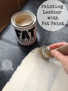 Beautiful Painting Leather? Crazy Right? Nope, You Can Easily Paint Leather With Fat  Paint