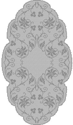 Crochet Table Runner Pattern, Crochet Doily Patterns, Crochet Doilies, Crochet Carpet, Filet Crochet Charts, Crochet Magazine, Table Runners, Baby Knitting, Cross Stitch
